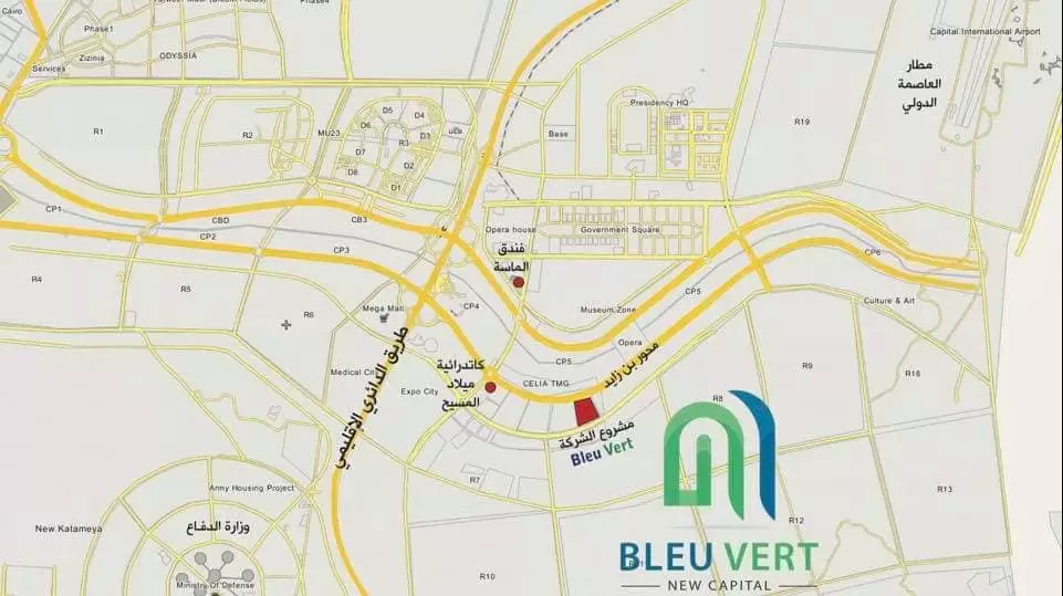 Location of Bleu Vert New Capital