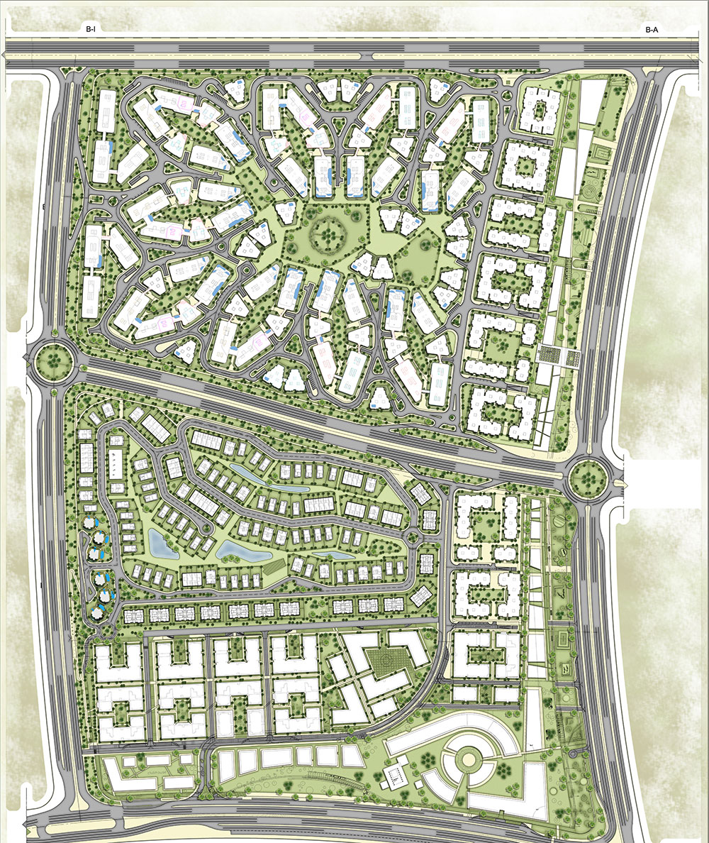 Master plan for Bloomfields compounds