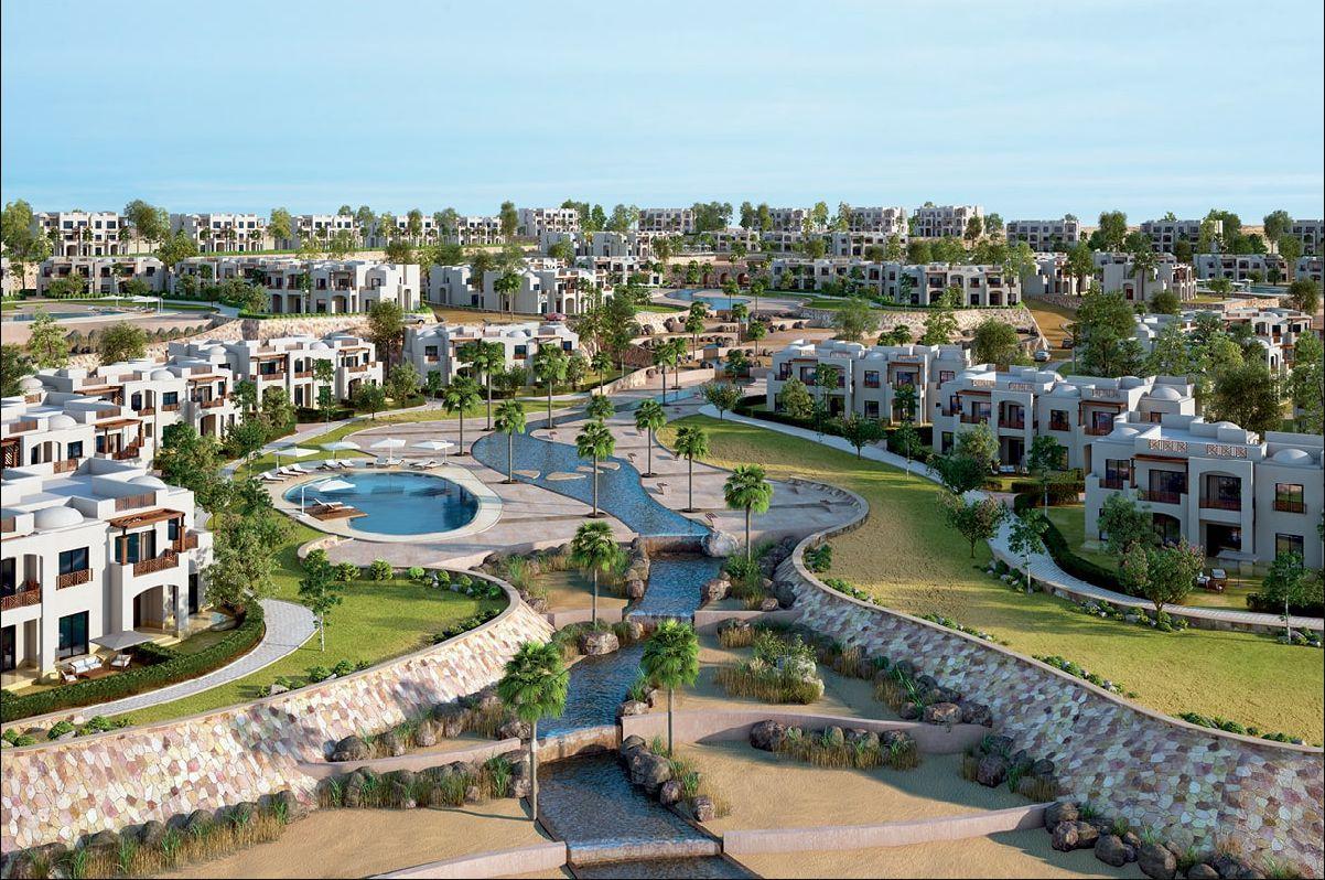 Residential Units and Landscape in Makadi Heights Resort