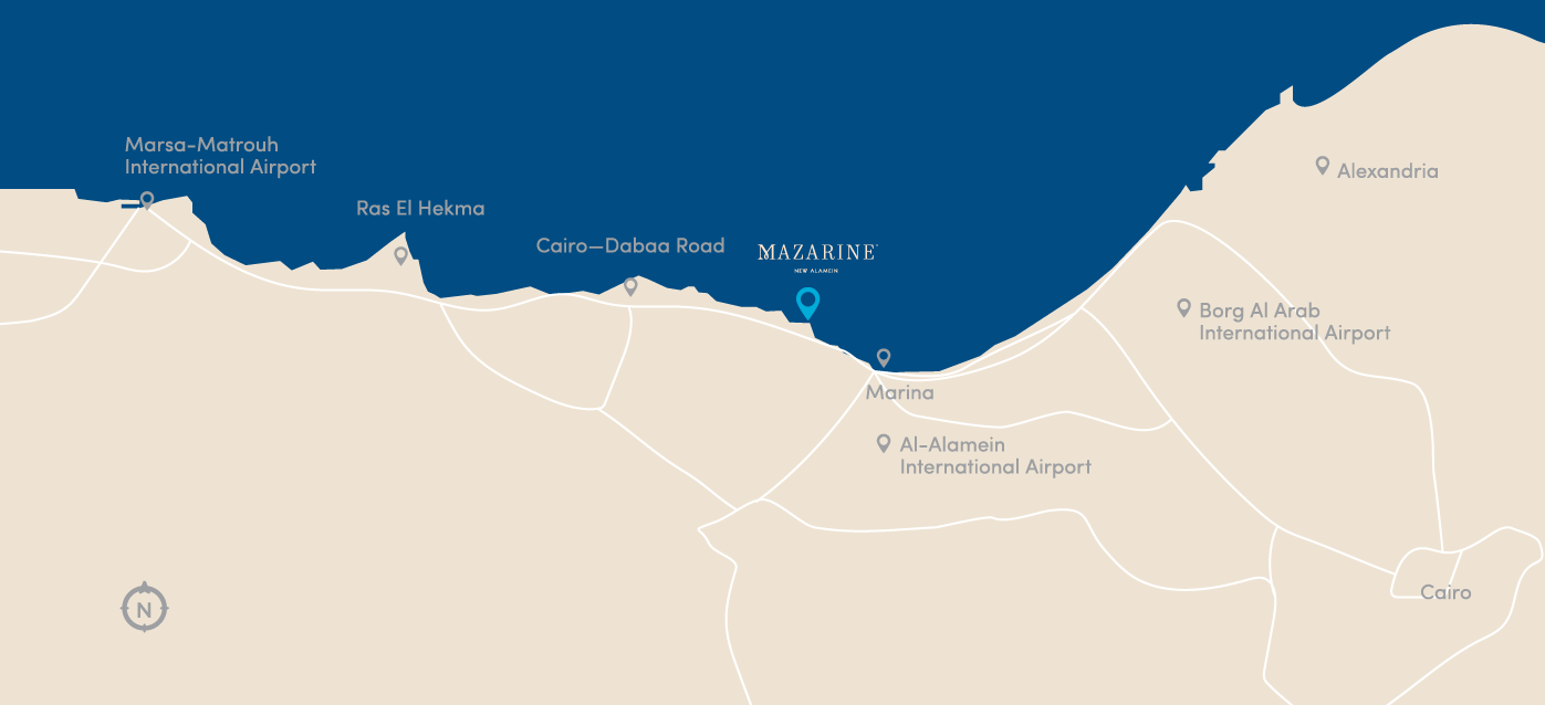 Mazarine City Edge location