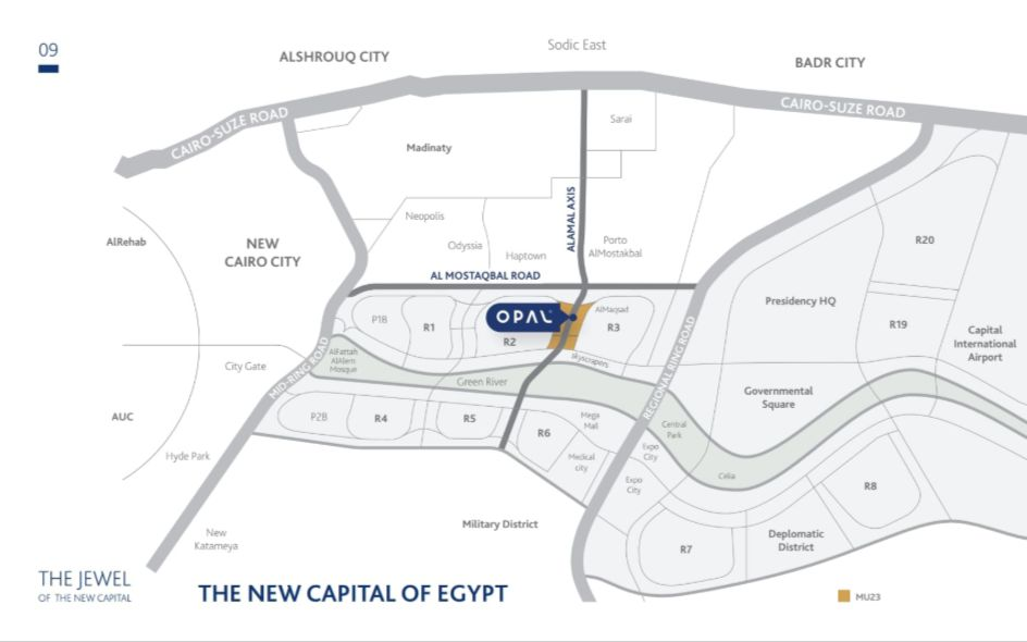 Location of Opal Mall Rekaz Developments