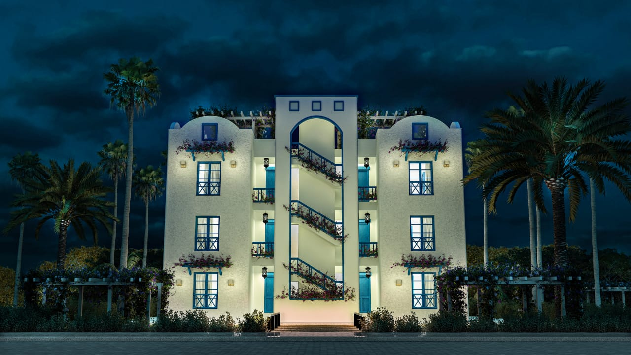 Night-view-for-units-in-Valley-resort