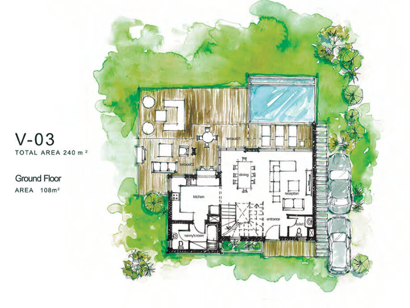Master Plan for distinctive villa in Majada