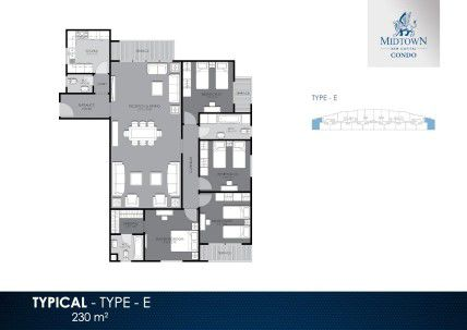 Apartment Plan in Midtown Condo Compound