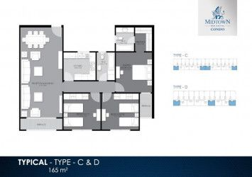 Apartment Plan in Midtown Condo compound by Better Home