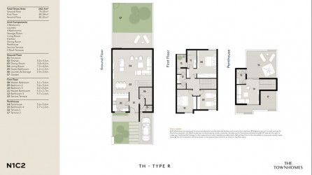layout of  200 meters town house in Al Burouj compound.