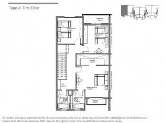 First Floor Plan Townhouse in Hyde Park 5TH Settlement.