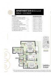 .شقة بمساحة 113 متر في كمبوند روزس