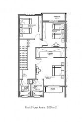 First Floor Plan Townhouse in Hyde Park new cairo.
