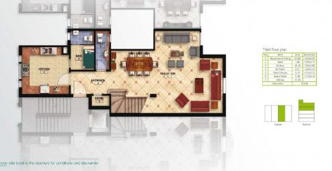 Layout Of The 3rd Floor Of a Duplex in Mountain View Hyde Park