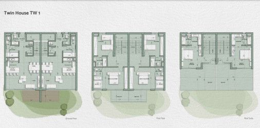Twin house 175 meter plan in IL Monte Galala