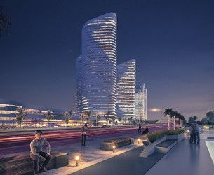 Apartment with area 117m² in New Alamein Towers