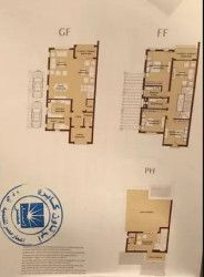 Twin House with area 310 m² in Uptown Cairo compound