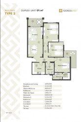 مخطط شقة 170 متر في ذا أدريس إيست