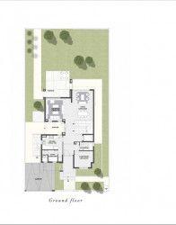 مخطط الدور الارضي لفيلا بمساحة 348 متر في ذا استيتس