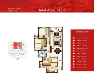 apartments in Capital Heights 2 with an area of 144 meters