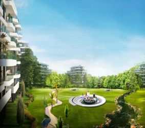 Apartments With Garden in The Canyon Mostakbal City