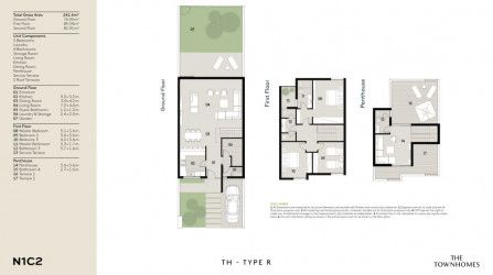 Townhouse Plan With Penthouse in Al Burouj Compound.