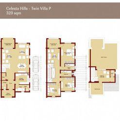 مخطط توين هاوس بمساحة 320 متر في كمبوند أب تاون كايرو