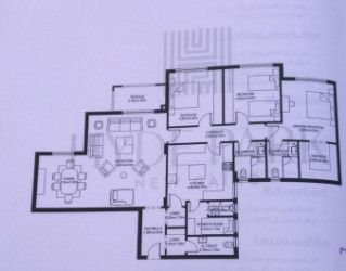 Apartment plan 192 m in compound Hyde Park.