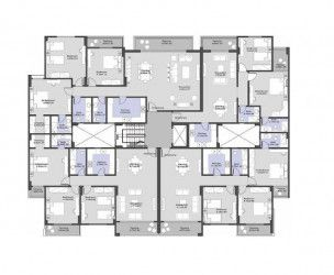 Apartments with different sizes in El Patio ORO Compound New Cairo.