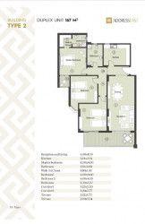 مخطط شقة 167 متر في ذا أدريس أيست