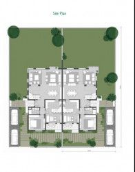 Twin house plan in Villette compound