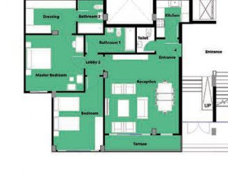 Apartments with garden in Boardwalk Compound