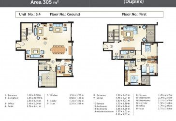 Duplex Floor Plan in Golden Yard compound New Capital