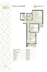 مخطط شقة 121 متر في كمبوند ذا أدريس إيست
