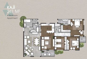 Apartments in Anakaji compound new capital with spaces starting from 241 meters.