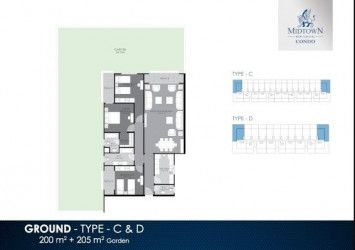 Ground Floor Apartment Plan in Midtown Condo Compound