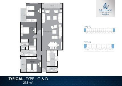 Apartment with Area of 215 m² in Midtown Condo New Capital
