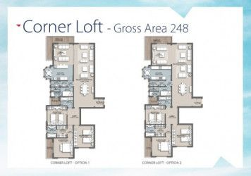 Apartment plan 251 m in the loft compound.