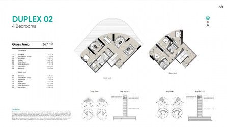 Duplex 347 m² in Zahya by City Edge.