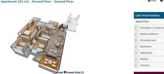 Apartment with garden in Kenz Compound