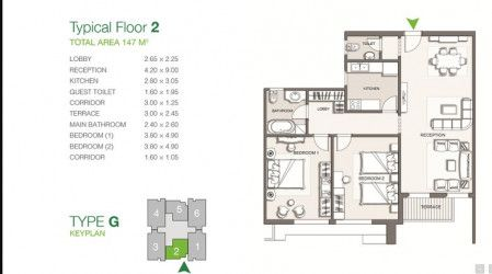 Apartment with Area of 147 m² In Pukka by Master Builder.