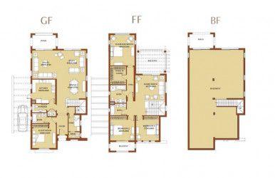 مخطط داخلي لفيلا في كمبوند أب تاون كايرو من إعمار مصر