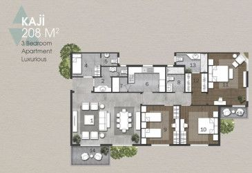 Apartments in Anakaji by Aqar Masr with an area of 208 m.