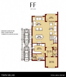 Twin house with area 310 m in Uptown by Emaar Misr