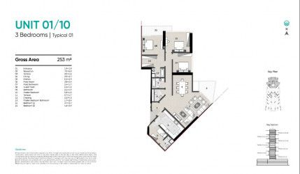 Apartments of 201 to 253 meters in Zahya New Mansoura.