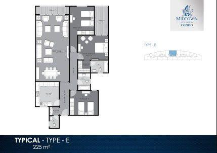 225 m² Units in Midtown Condo Compound