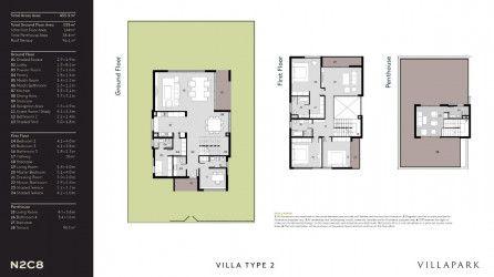 Villas in Al Burouj compound 440 m².