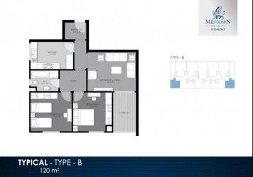 Apartment Plan of 120 m² in Midtown Condo Compound