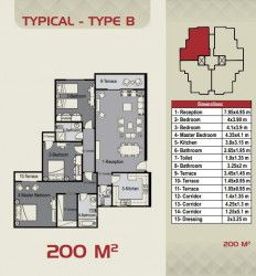 200 m² Apartment in Sky Capital from Peter House