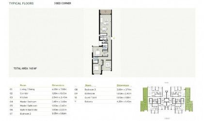 Apartment with area 165m in Zed East Compound