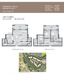 Duplex plan in Uptown Cairo compound