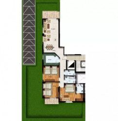 Internal division of an Apartment Area of 178 m² in Neopolis New Cairo.