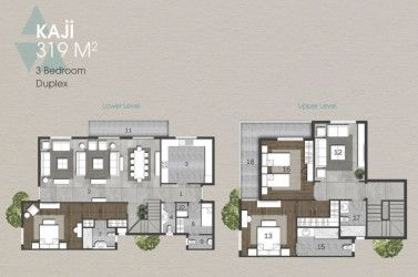 Duplex with an area of 319 m in Anakaji New Capital.