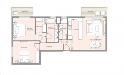 Master Plan for Apartment 138 m² to 168 m² in HAPTown Compound.
